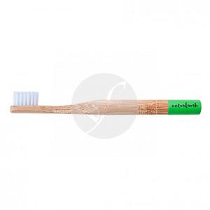 Cepillo dental de bambú niños verde Eco biodegradable Naturbrush