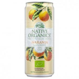 Refresco naranja sin gas, eco, sgluten, vegano 330ml Native Organics