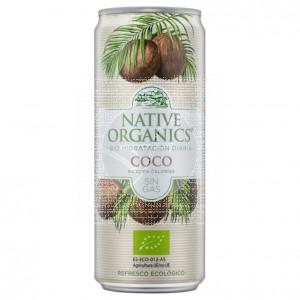 Refresco de coco sin gas eco sgluten vegano 330ml Native Organics