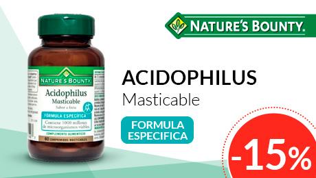 Agosto 2019 - Acidophilus comprimidos Nature's Bounty