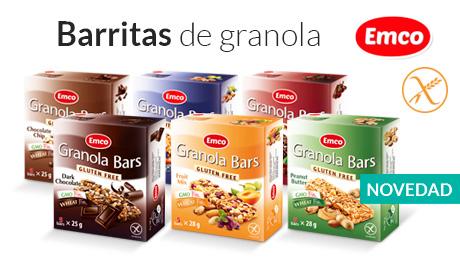 Abril - Barritas de granola Emco
