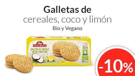 Mayo - Galletas con coco y limón Natursoy