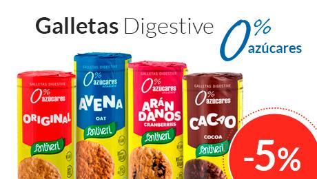 Febrero- Galletas digestive sin azucares añadidos Santiveri
