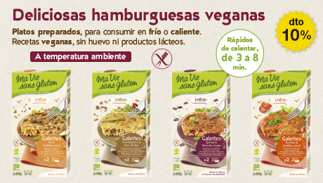 Agosto 2019 - hamburguesas veganas sin gluten Mai Vie Sans Gluten