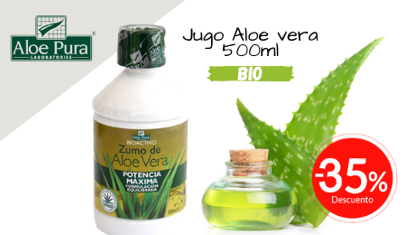Jugo Aloe Vera Aloe Pura 500ml