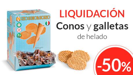 Liquidacion conos y galletas de helado