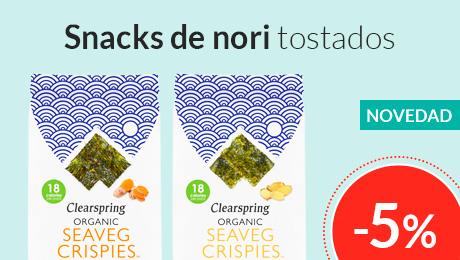Enero- Snacks de nori Clearspring