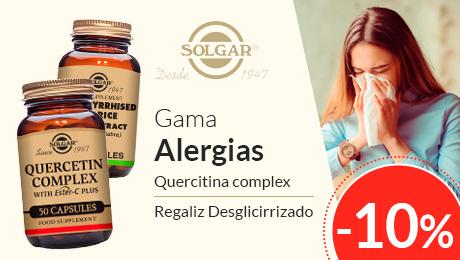 Gama alergias y regaliz Solgar