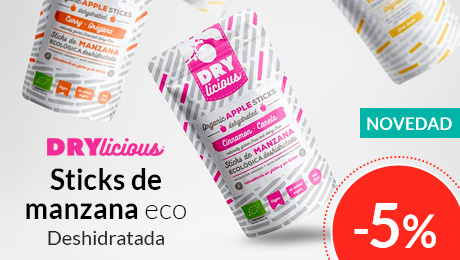 Junio 2019 - Sticks de manzana eco - Drylicious