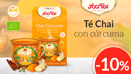 Septiembre 2019 - Té chai con cúrcuma Yogi Tea