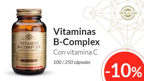 Agosto 2019 - Vitaminas B complex con vitamina C Solgar