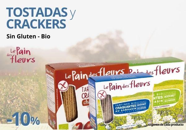 Les Pain Des Fleur Tostadas y Crackers