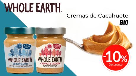 Cremas cacahuete Whole Earth